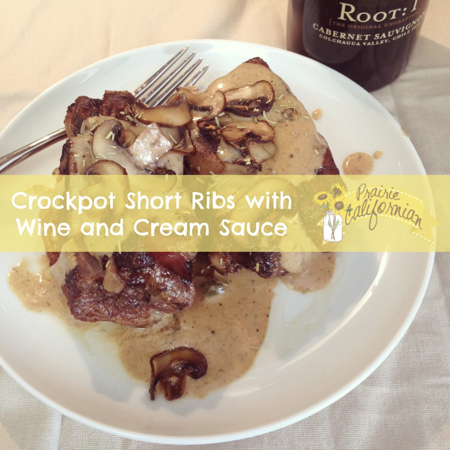 Easy Crockpot Short Ribs with Wine and Cream