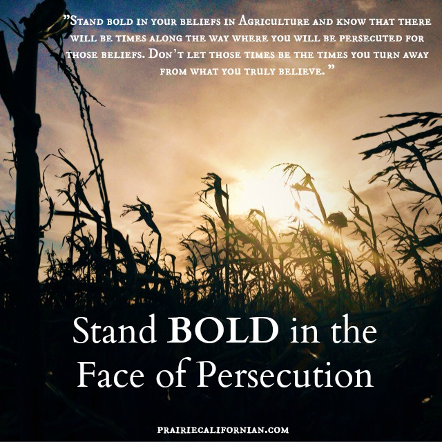 Stand Bold in the Face of Persecution  Prairie Californian