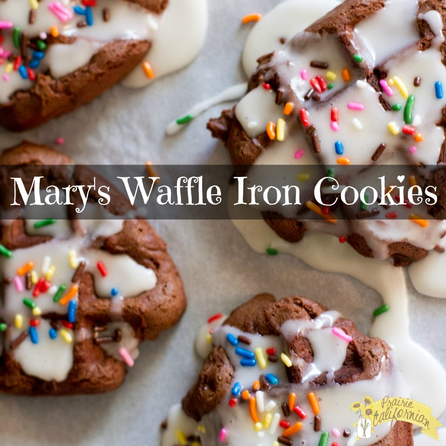 Waffle Iron Cookies These Waffle Iron Cookies