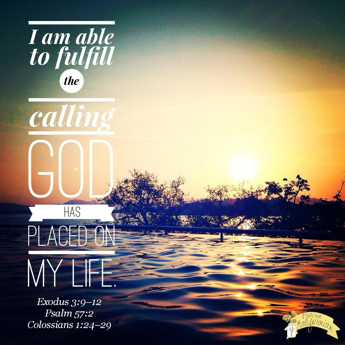 Fulfill God's Calling - Prairie Californian