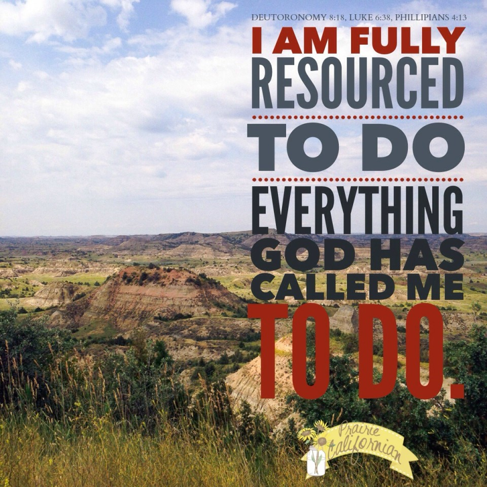 I am fully resourced - Prairie Californian
