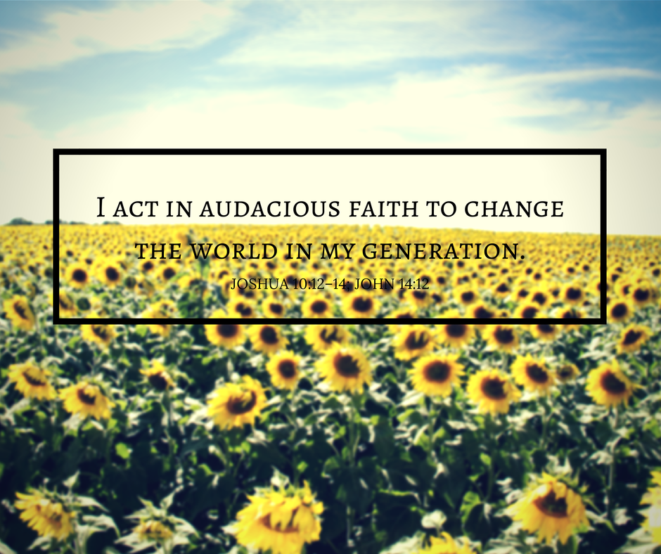 Faith Friday: Acting in Faith to Change the World