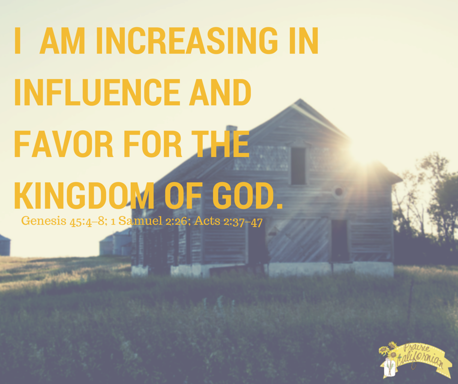 Faith Friday: Increasing in Influence for the Kingdom of God