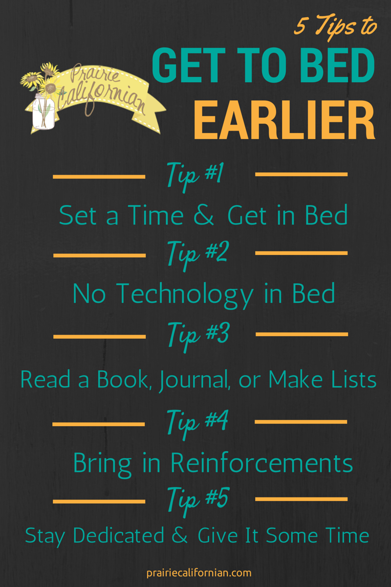 5 Tips to Get to Bed