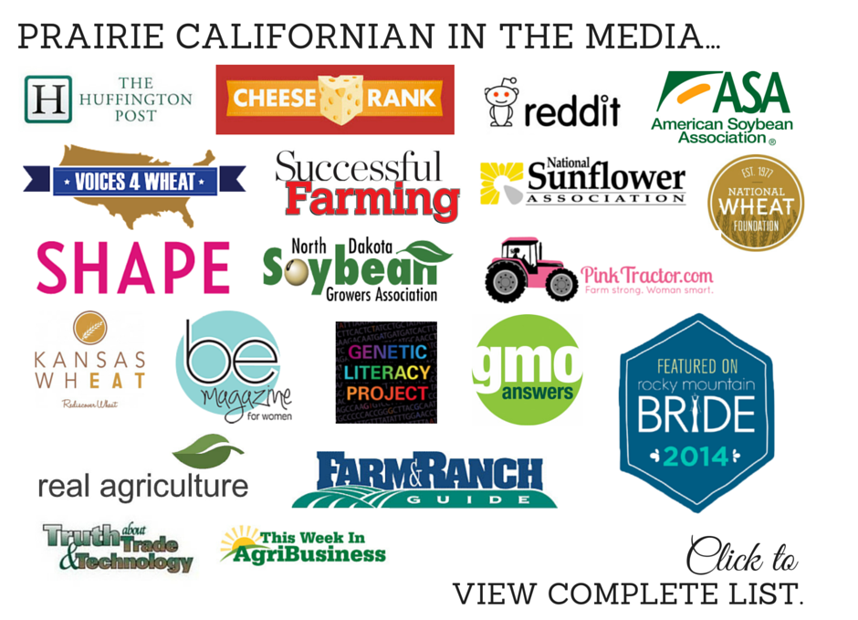 Prairie Californian in the Media