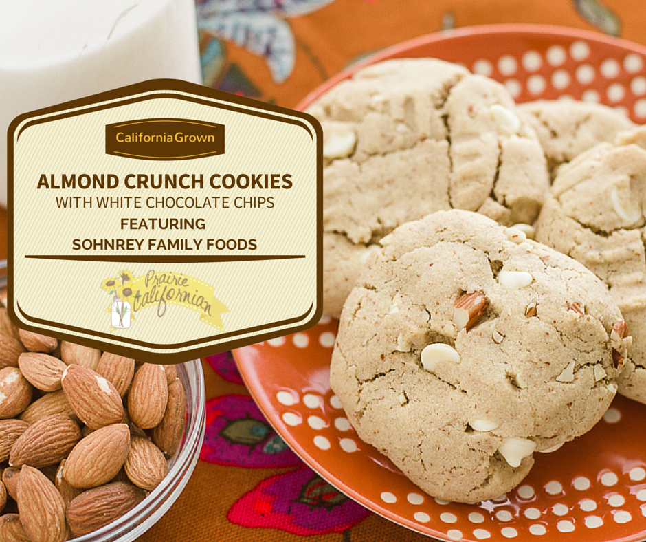 Almond Crunch Cookies with White Chocolate Chips featuring Sohnrey ...