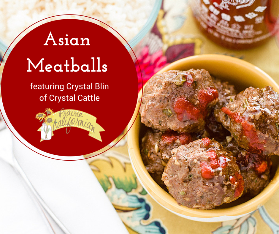 Asian Meatballs featuring Crystal Blin of Crystal Cattle