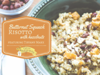 Butternut Squash Risotto with Hazelnuts