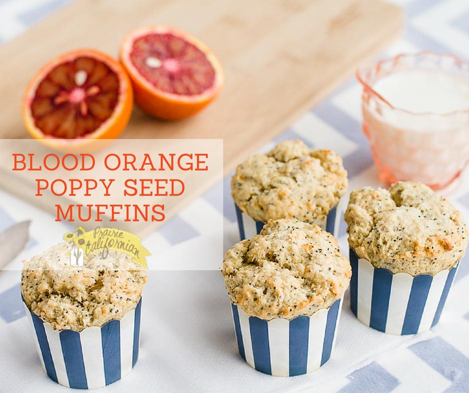 Blood Orange Poppy Seed Muffins - Prairie CalifornianPrairie ...