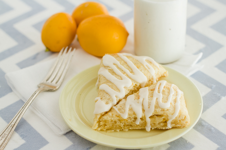 Meyer Lemon Scones with Vanilla Lemon Glaze - Prairie Californian-1
