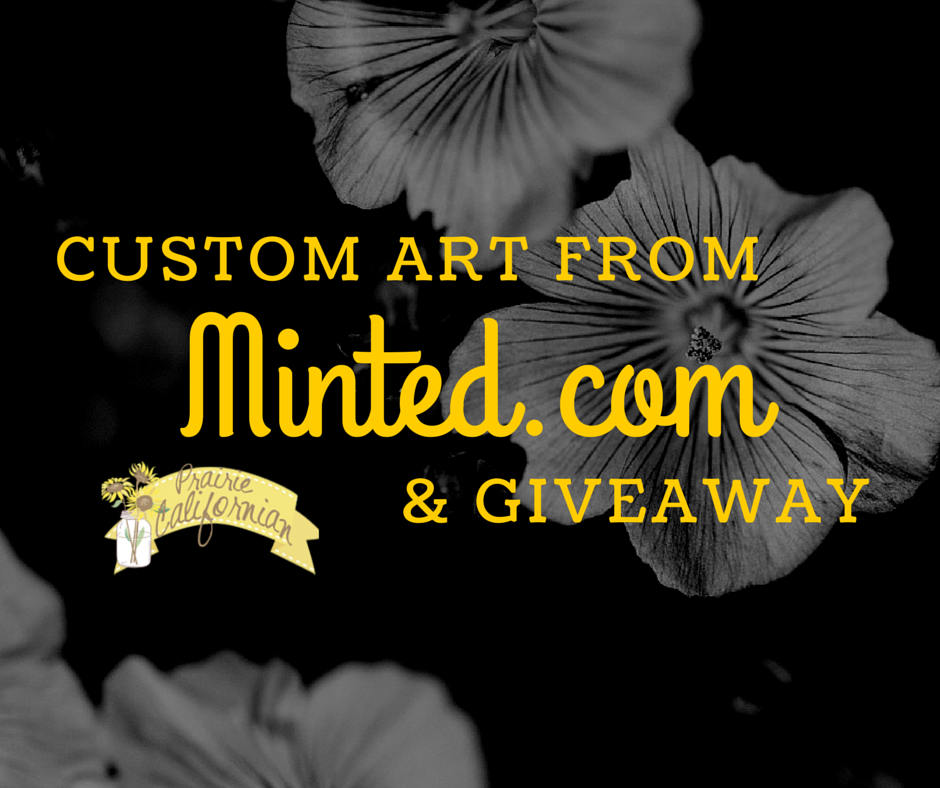 Custom Art from Minted.com & Giveaway
