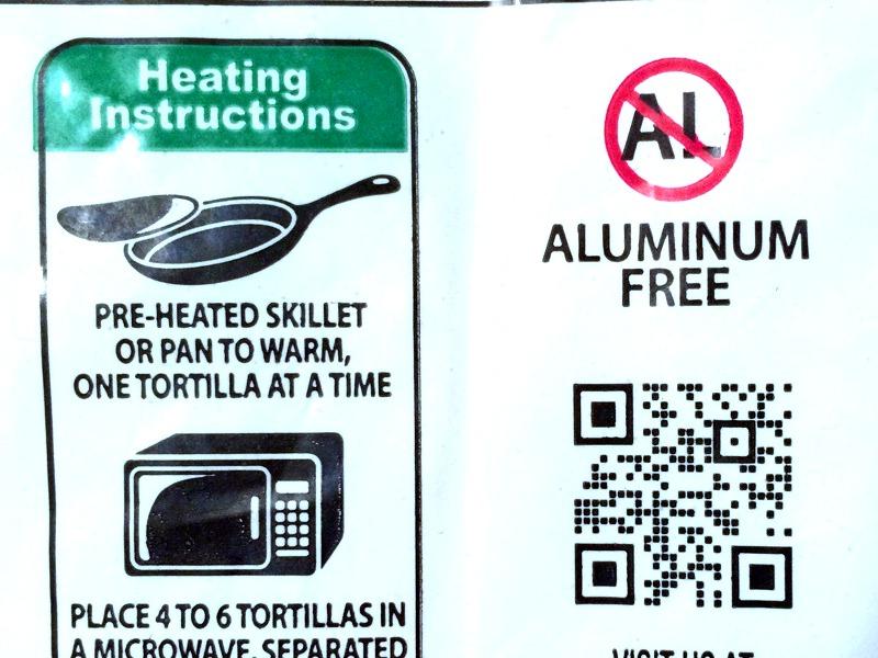 aluminum free tortillas