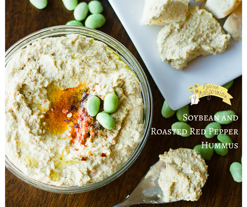Soybean and Roasted Red Pepper Hummus