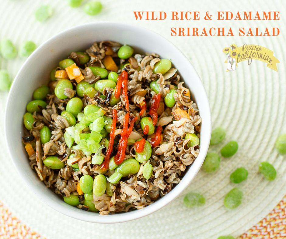 Wild Rice and Edamame Sriracha Salad