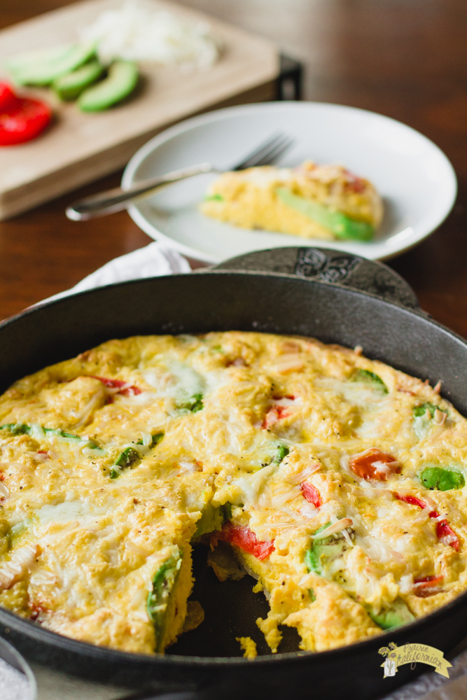 avocado and tomato frittata