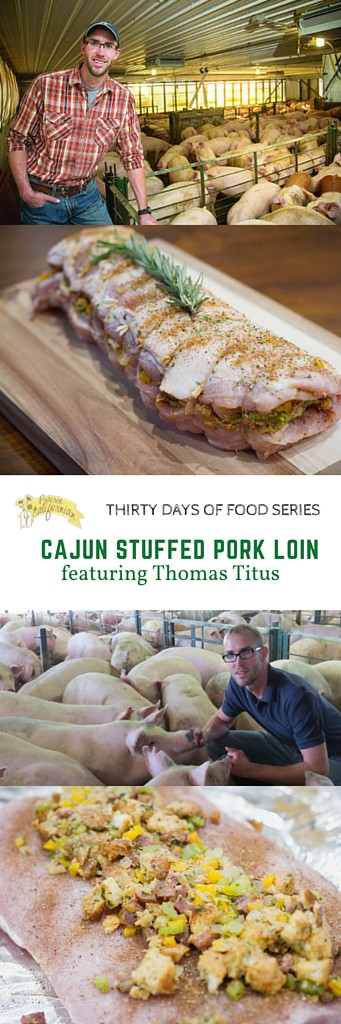 Cajun Stuffed Pork Loin featuring Thomas Titus - Prairie Californian