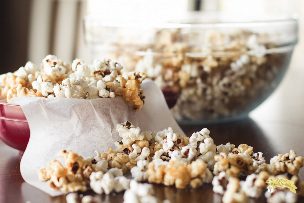 Salted Caramel and White Cheddar Popcorn featuring Pilot Knob Comforts