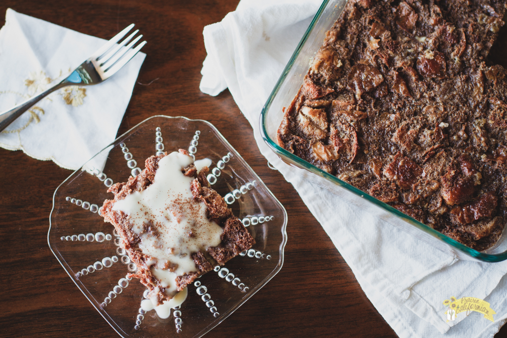 Chocolate Bread Pudding featuring Heins Family Farm