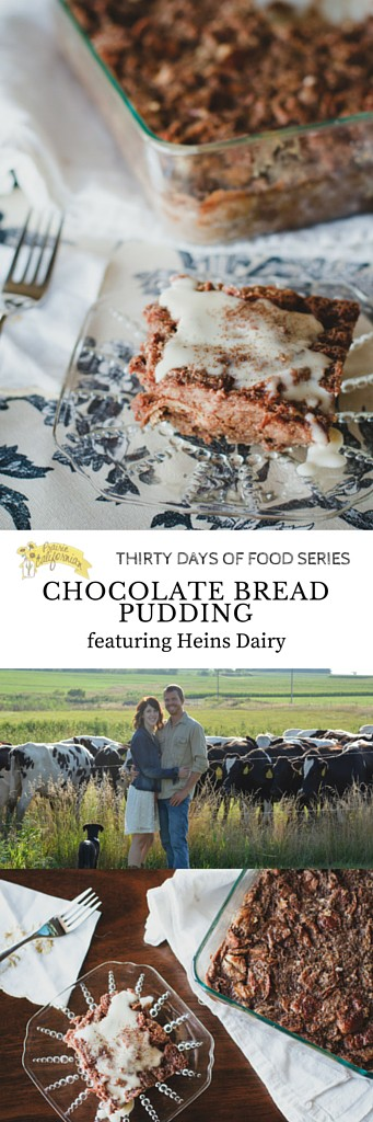 Chocolate Bread Pudding featuring Heins Dairy - Prairie Californian