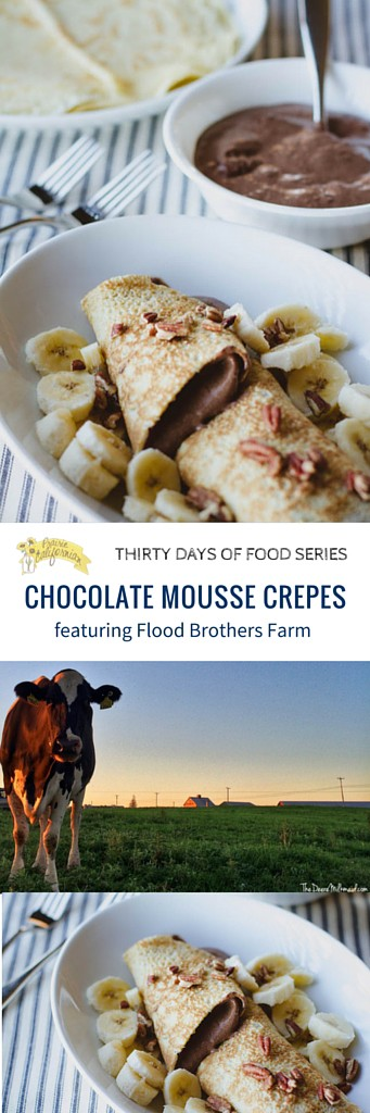 Chocolate Mousse Crepes featuring Flood Brothers Farm