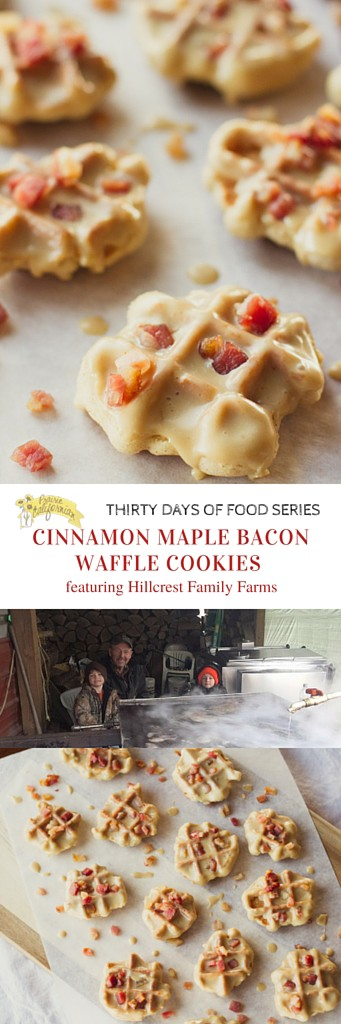 Cinnamon Maple Bacon Waffle Cookies featuring Hillcrest Family Farms - Prairie Californian