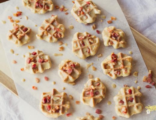 Cinnamon Maple Waffle Cookies with Bacon-2