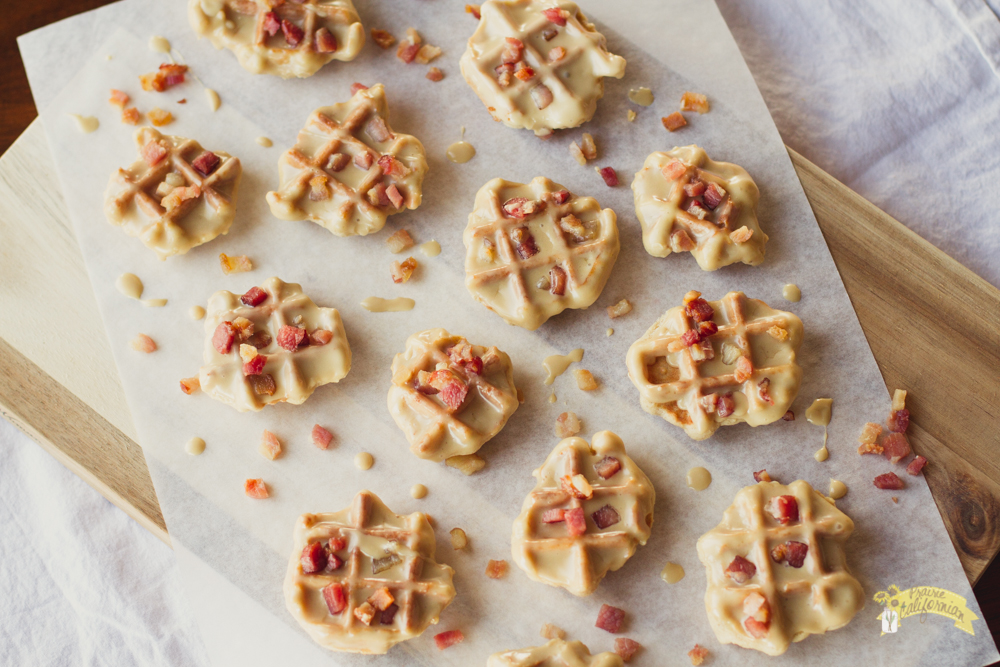 Cinnamon Maple Waffle Cookies with Bacon-2