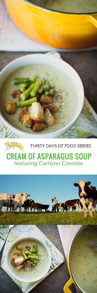 Cream of Asparagus Soup featuring Carilynn Coombs - Prairie Californian