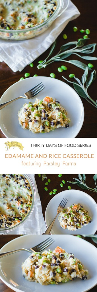 Edamame and Rice Casserole featuring Parsley Farms - Prairie Californian