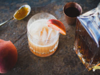 Honey Peach Whiskey Sour-1