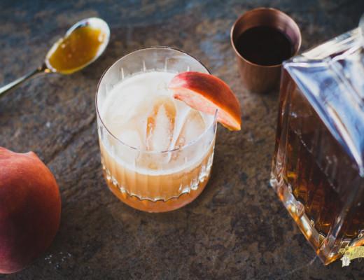 Honey Peach Whiskey Sour-1