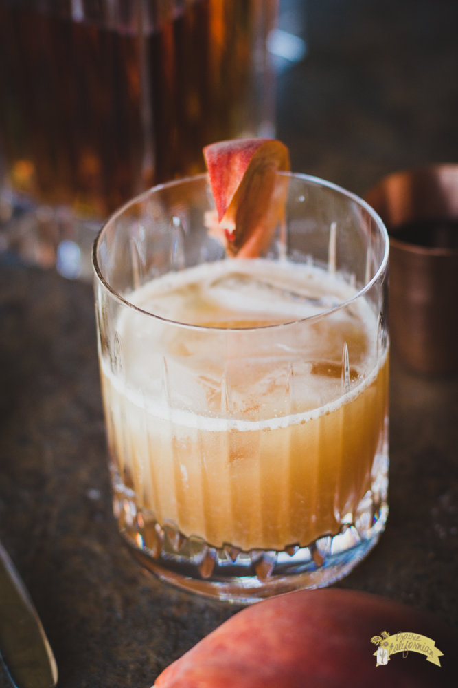 Honey Peach Whiskey Sour-2
