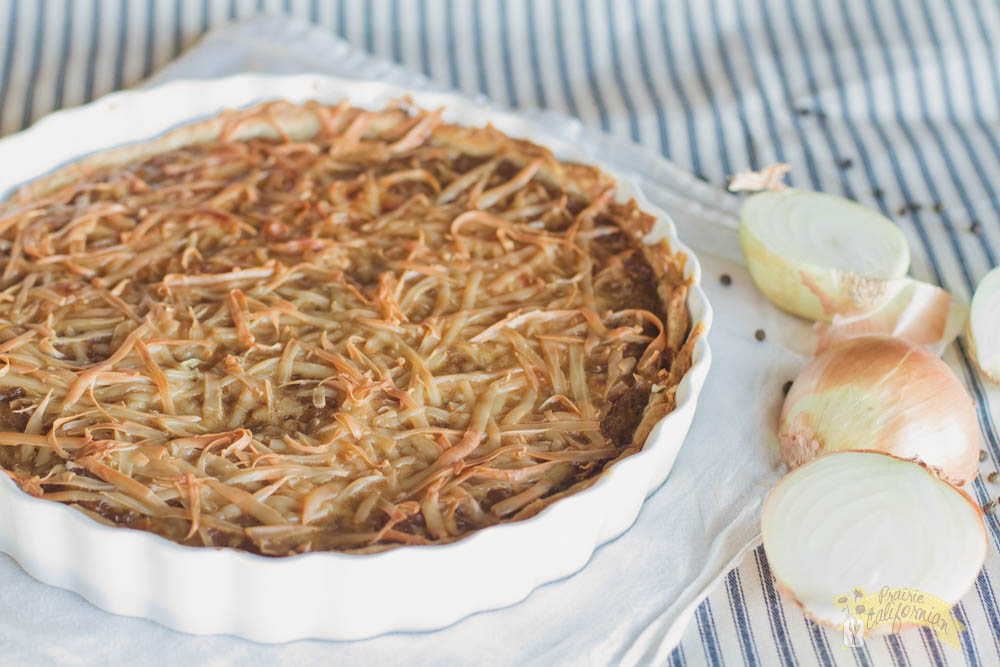 Onion Tart featuring Roberts Family Farms