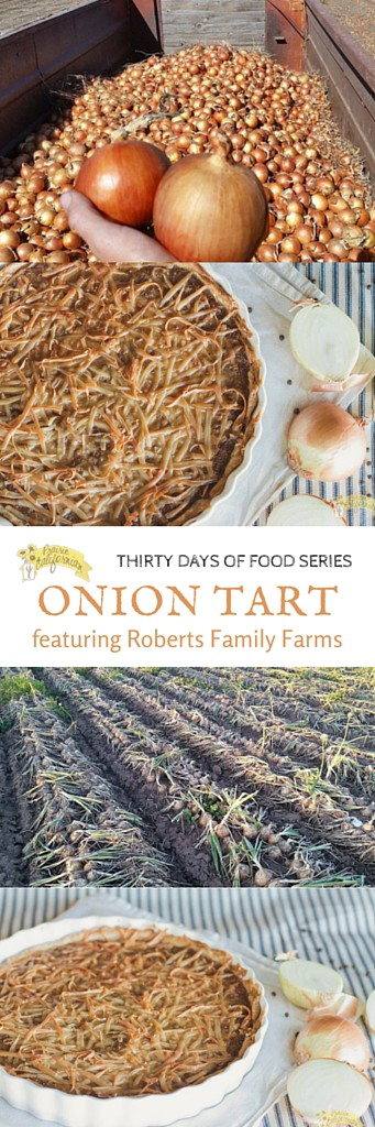 Onion Tart featuring Roberts Family Farms - Prairie Californian