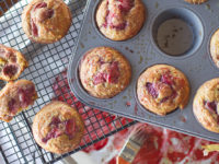 Roasted Strawberry Muffins-1