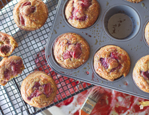Roasted Strawberry Muffins-1