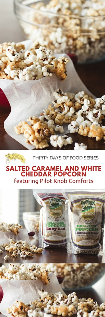 Salted Caramel and White Cheddar Popcorn featuring Pilot Knob Comforts - Prairie Californian