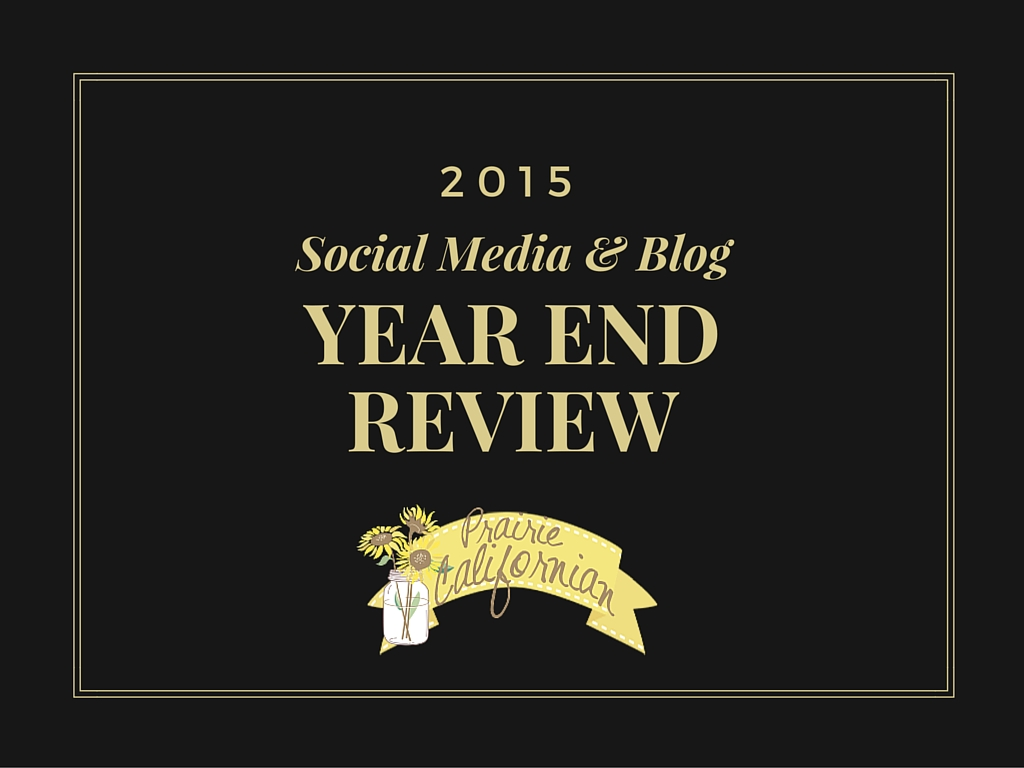 2015 Social Media & Blog Year End Review - Prairie Californian