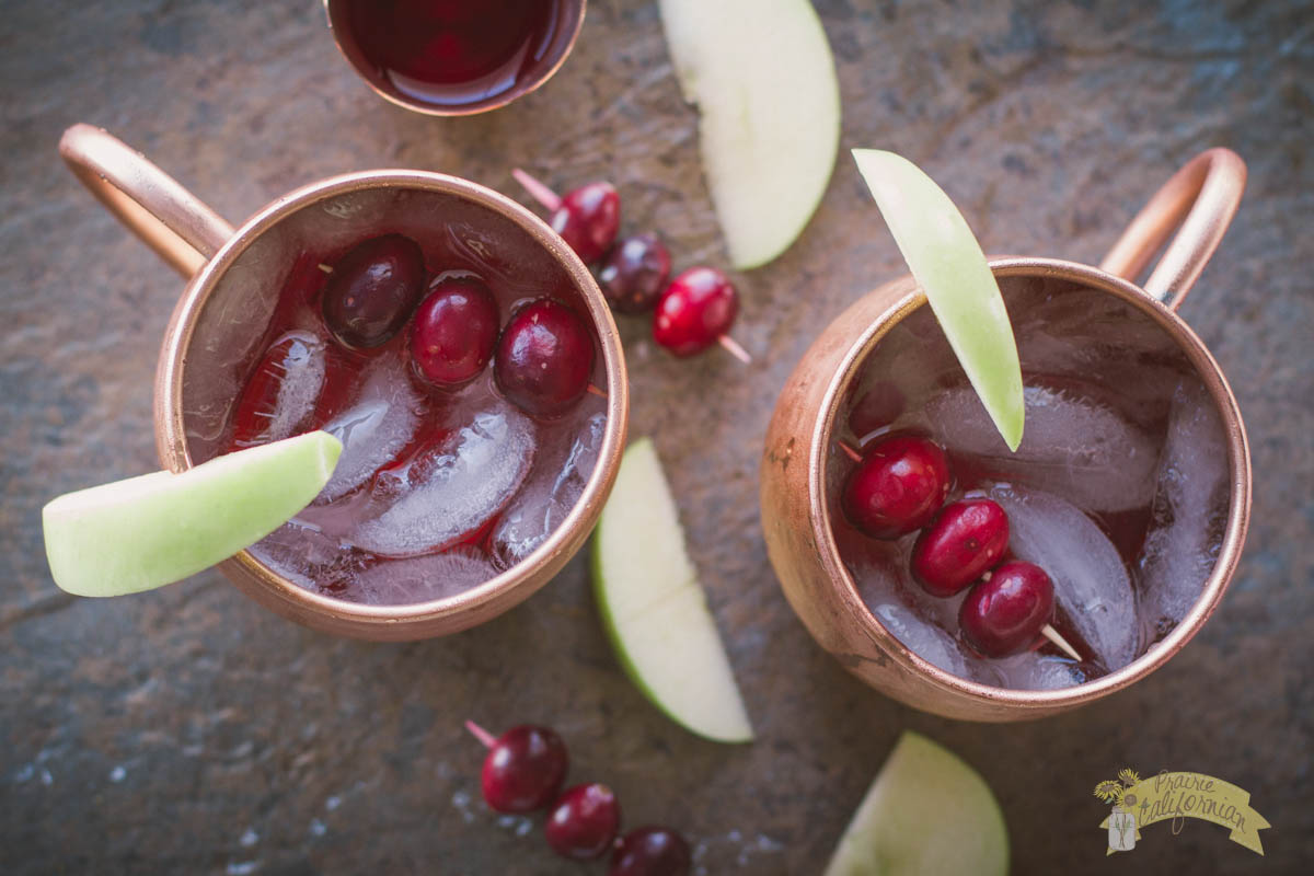 Cran Apple Moscow Mules