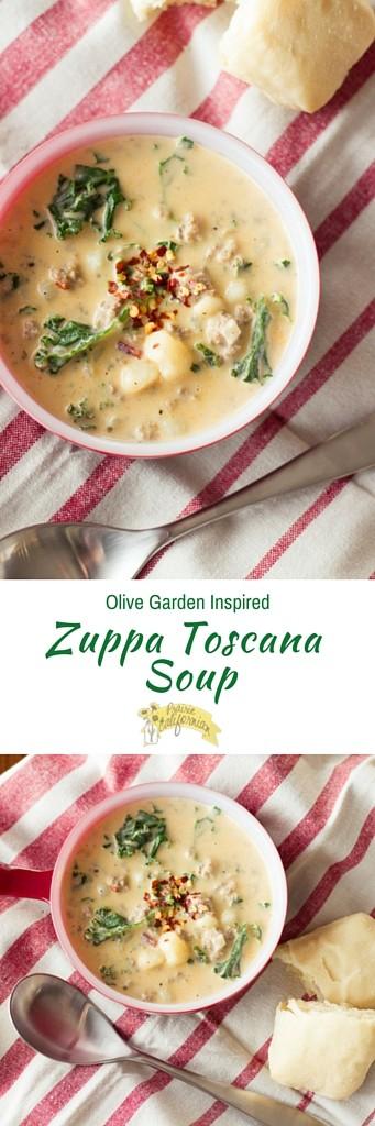Olive Garden Inspired Zuppa Toscana Soup - Prairie Californian