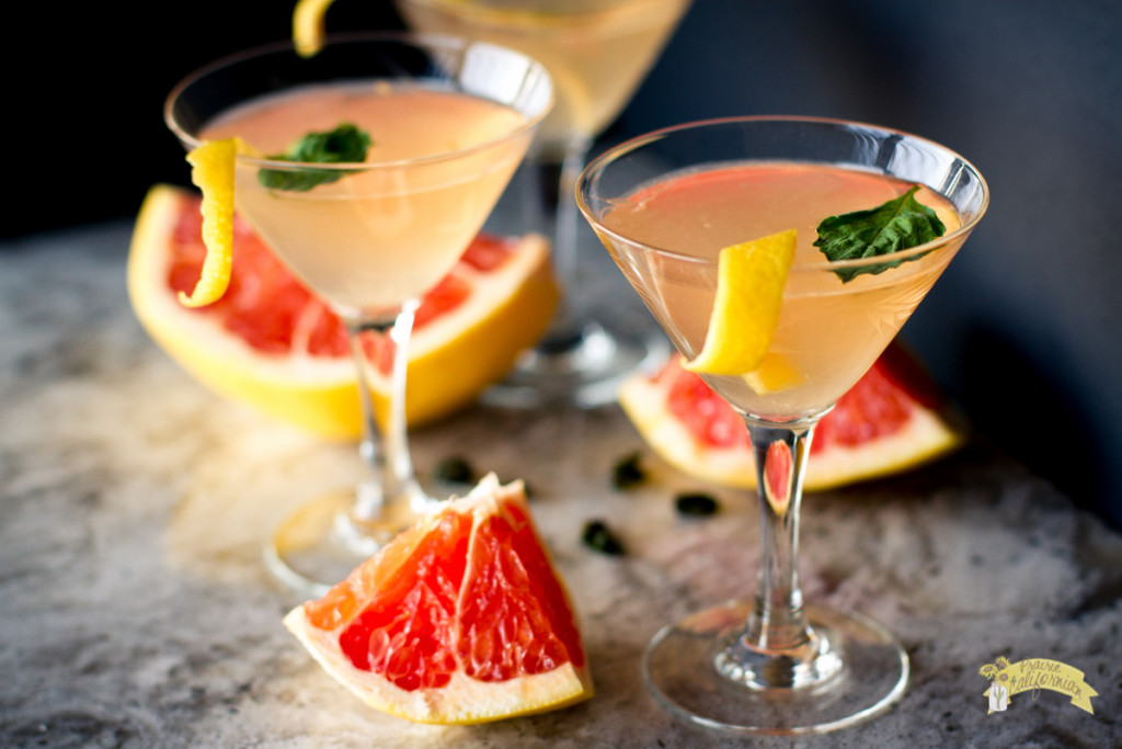 Grapefruit Basil Martini