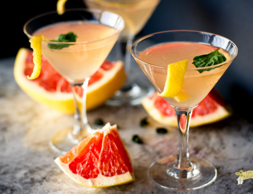 Grapefruit Basil Martini-4