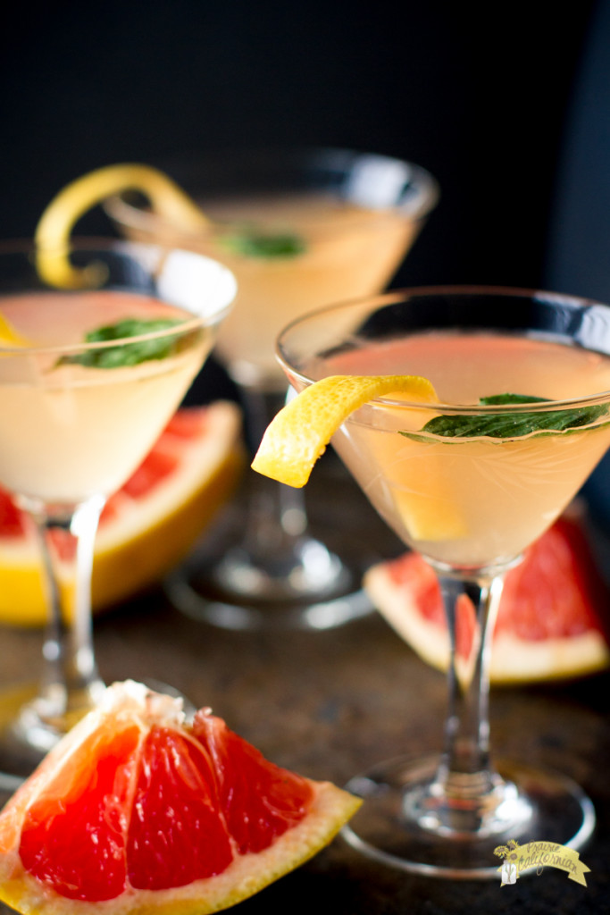 Grapefruit Basil Martini-5
