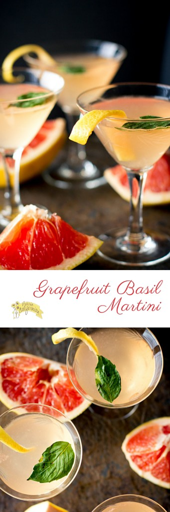 Grapefruit Basil Martini - Prairie Californian