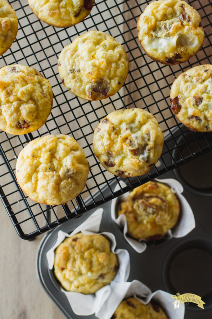 Onion and Bacon Frittata Muffins-4