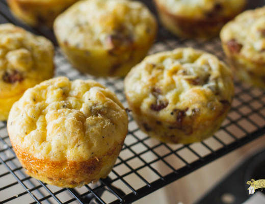 Onion and Bacon Frittata Muffins-5