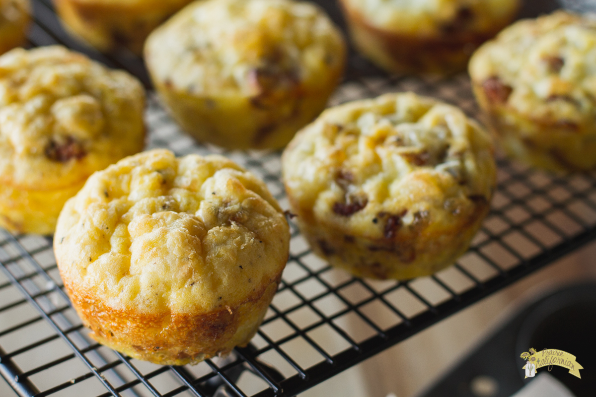 Caramelized Onion and Bacon Frittata Muffins