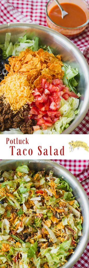Potluck Taco Salad - Prairie Californian