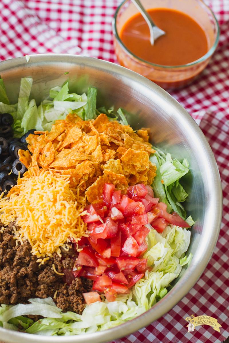 potluck taco salad -