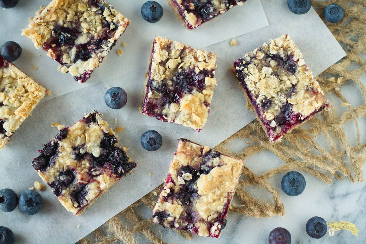 Blueberry Crumble Bars featuring Kassie Grasmanis